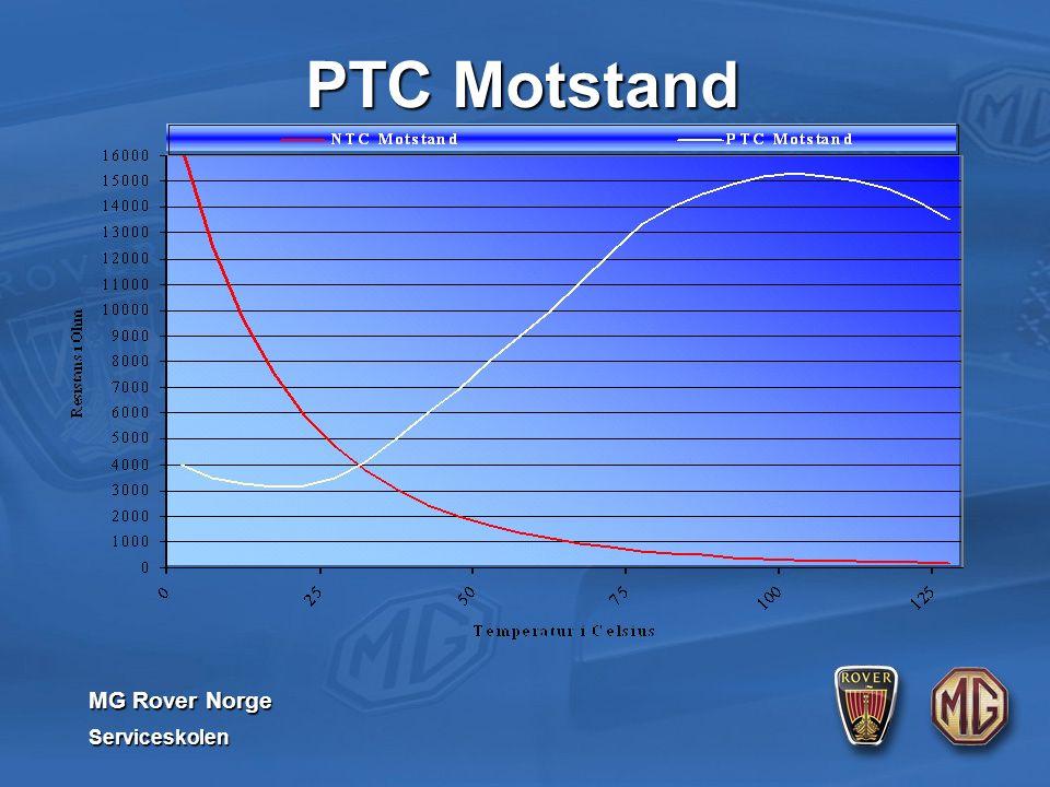 MG Rover Norge Serviceskolen PTC Motstand