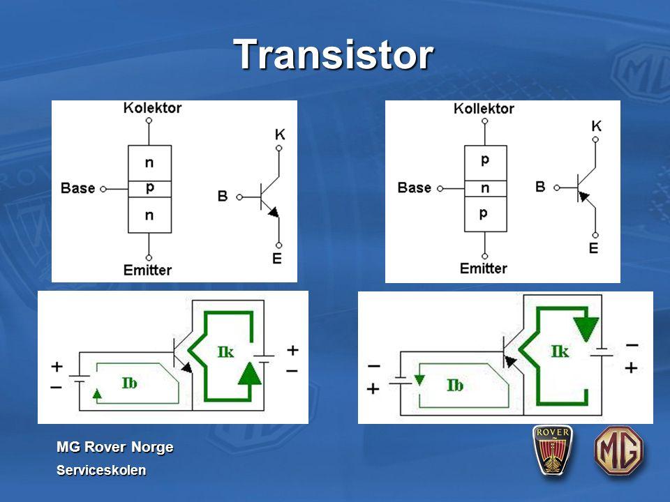MG Rover Norge Serviceskolen Transistor