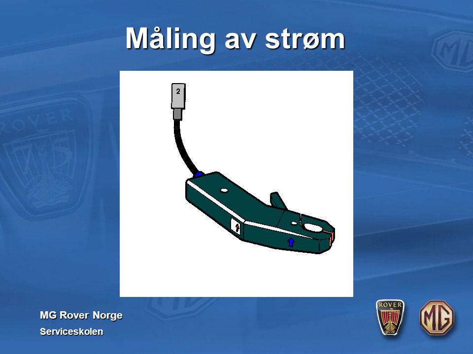 MG Rover Norge Serviceskolen Måling av strøm