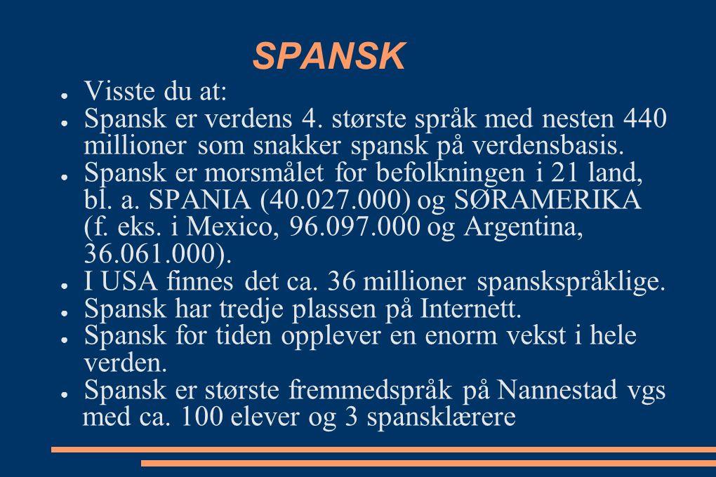Hva er spansk.