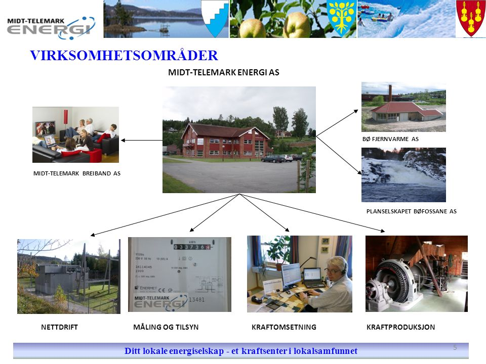 VANNFØRING I BØELVA Ditt lokale energiselskap - et kraftsenter i lokalsamfunnet Oterholtfossen.
