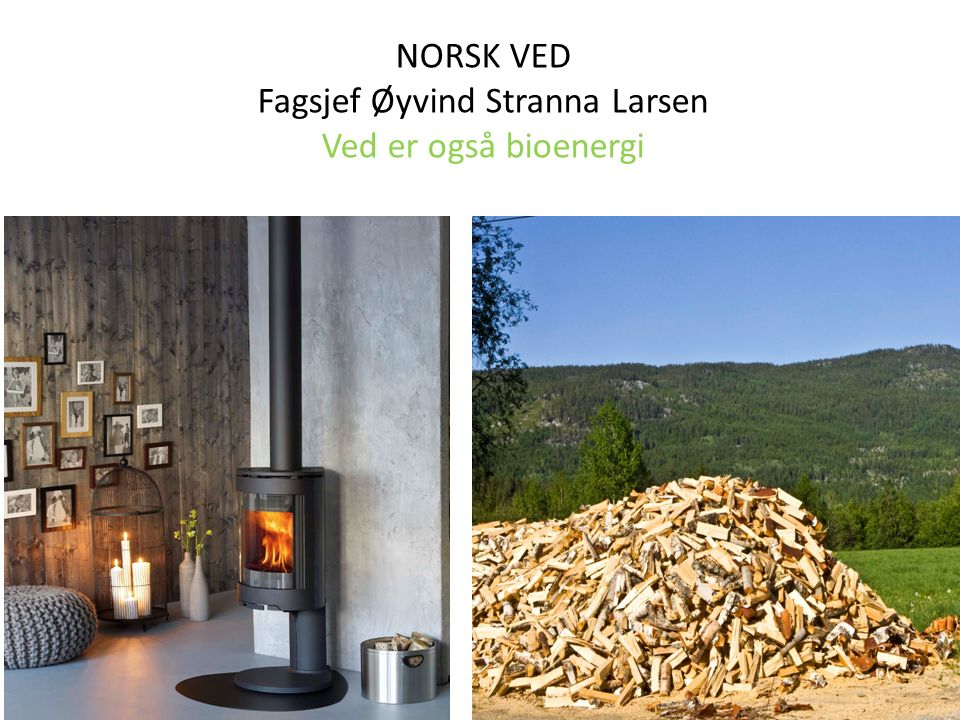 NORSK VED Fagsjef Øyvind Stranna Larsen Ved er også bioenergi
