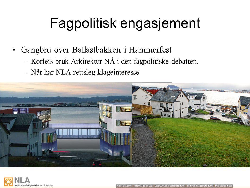 Fagpolitisk engasjement Gangbru over Ballastbakken i Hammerfest –Korleis bruk Arkitektur NÅ i den fagpolitiske debatten.