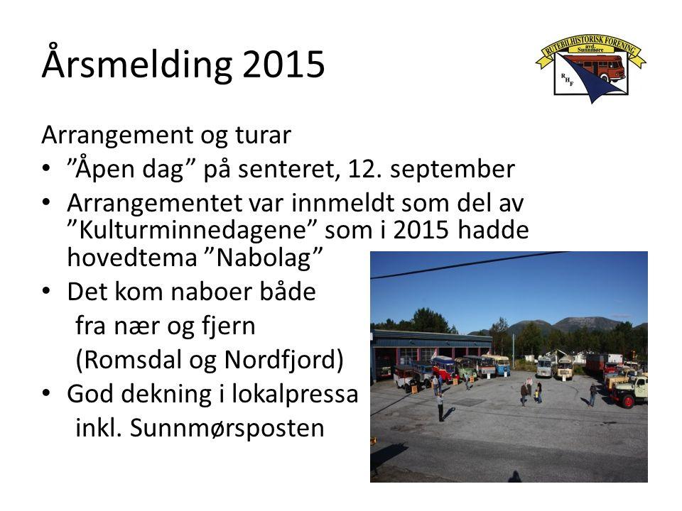 Årsmelding 2015 Arrangement og turar Åpen dag på senteret, 12.