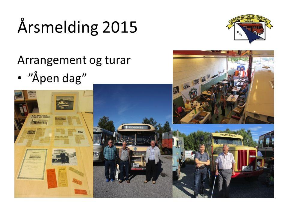 Årsmelding 2015 Arrangement og turar Åpen dag