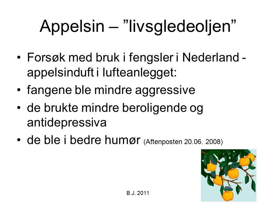 """Appelsin – """"livsgledeoljen"""" Forsøk med bruk i fengsler i Nederland - appelsinduft i lufteanlegget: fangene ble mindre aggressive de brukte mindre bero"""