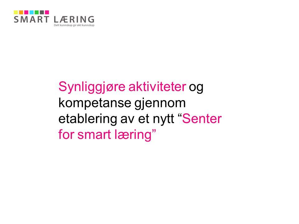 """Synliggjøre aktiviteter og kompetanse gjennom etablering av et nytt """"Senter for smart læring"""""""