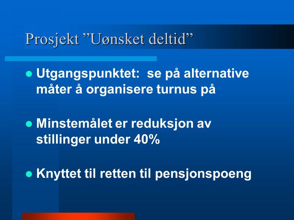 Prosjekt Uønsket deltid Sortland kommune Prosjektleder Hege Hodø