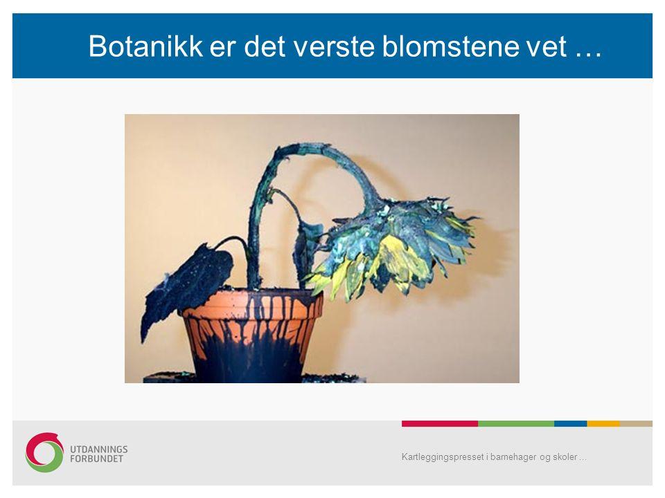 Botanikk er det verste blomstene vet … Kartleggingspresset i barnehager og skoler...