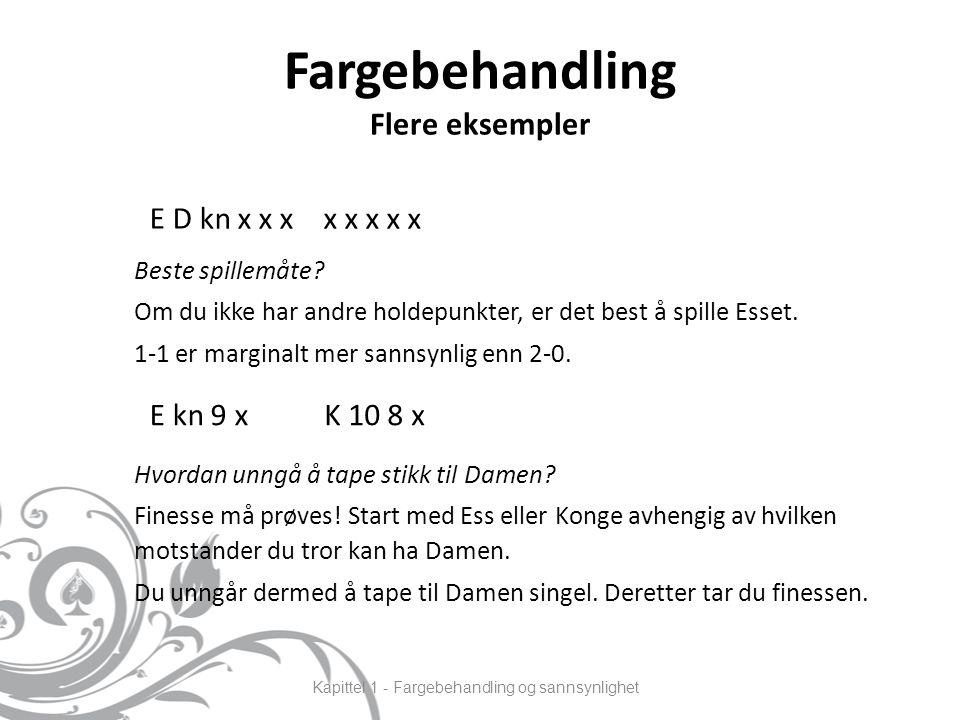 Fargebehandling Flere eksempler Beste spillemåte.