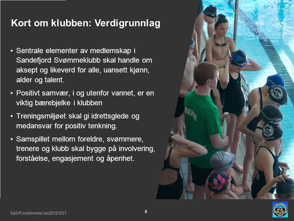 SaS/Foreldrmøte/Jan2012/SS1 4 Sentrale elementer av medlemskap i Sandefjord Svømmeklubb skal handle om aksept og likeverd for alle, uansett kjønn, alder og talent.