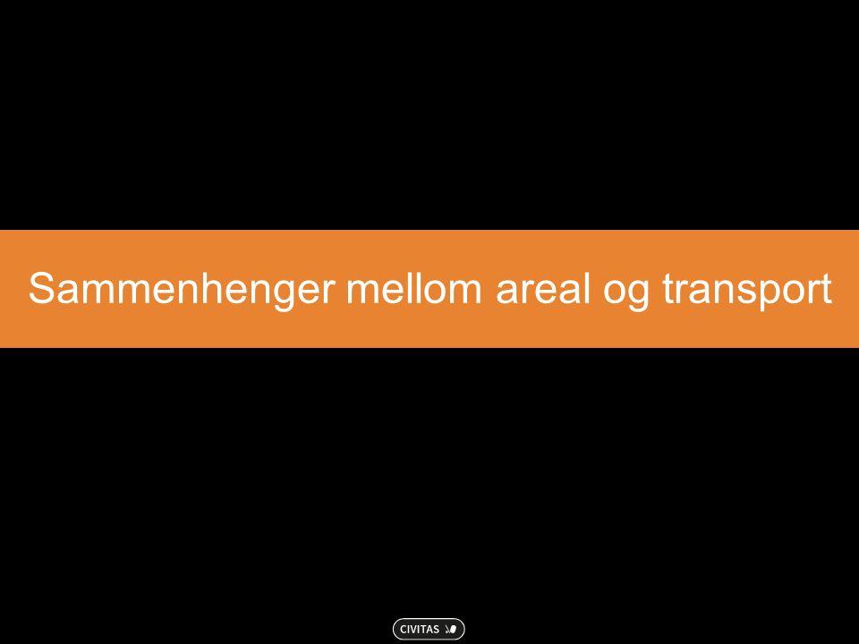 Sammenhenger mellom areal og transport