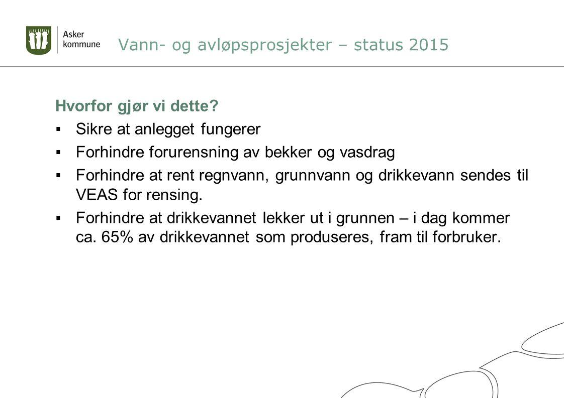 Vann- og avløpsprosjekter – status 2015 Hvordan jobber vi.
