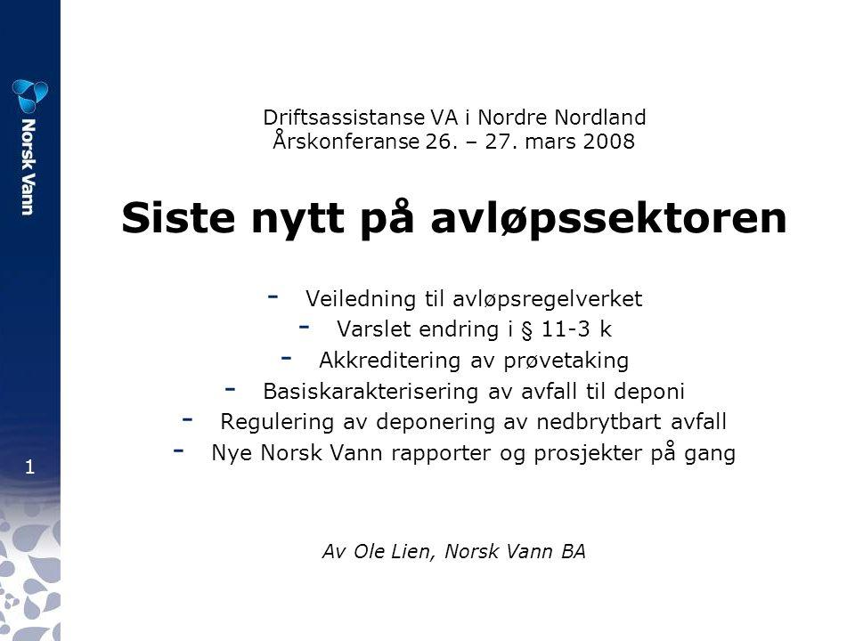 1 Driftsassistanse VA i Nordre Nordland Årskonferanse 26.