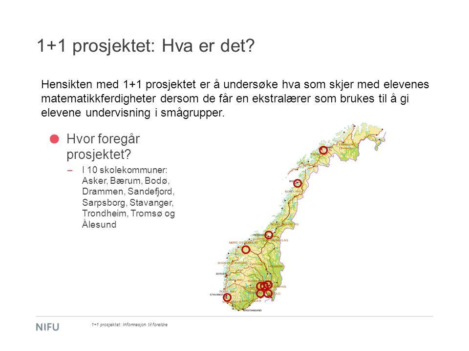 1+1 prosjektet: Resultater og oppsummering 1+1 prosjektet: Informasjon til foreldre