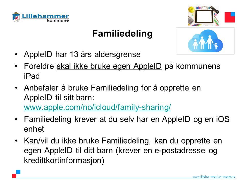 www.lillehammer.kommune.no Privat bruk av iPaden Elevene disponerer iPaden fritt gjennom skoleåret.