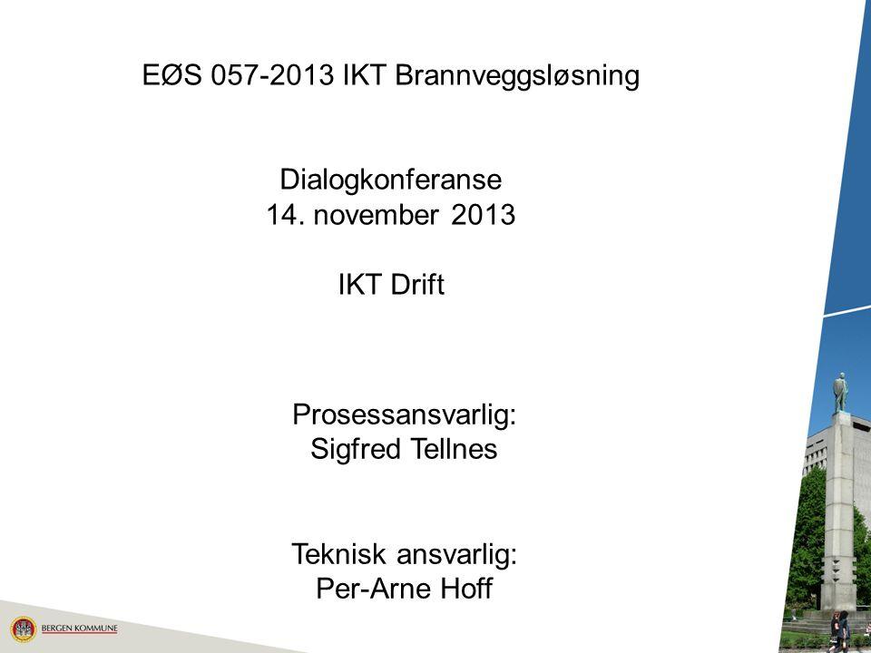 EØS 057-2013 IKT Brannveggsløsning Dialogkonferanse 14.