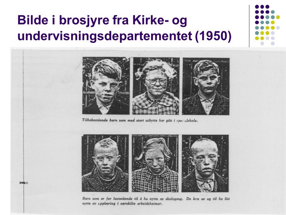 Bilde i brosjyre fra Kirke- og undervisningsdepartementet (1950)