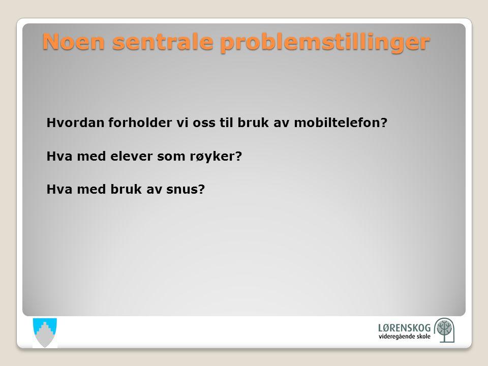 Noen sentrale problemstillinger Hvordan forholder vi oss til bruk av mobiltelefon.