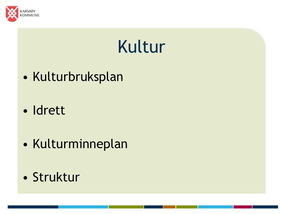 Kultur Kulturbruksplan Idrett Kulturminneplan Struktur