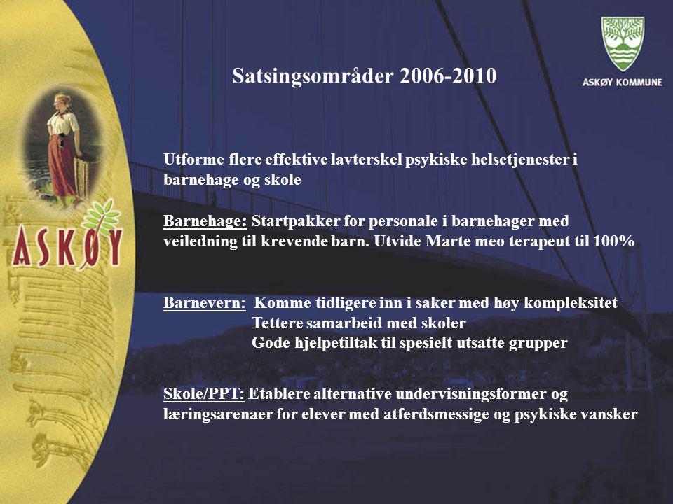 Satsingsområder 2006 - 2010 Kultur: Utforme egnede kulturtiltak for ungdommer i randsone.