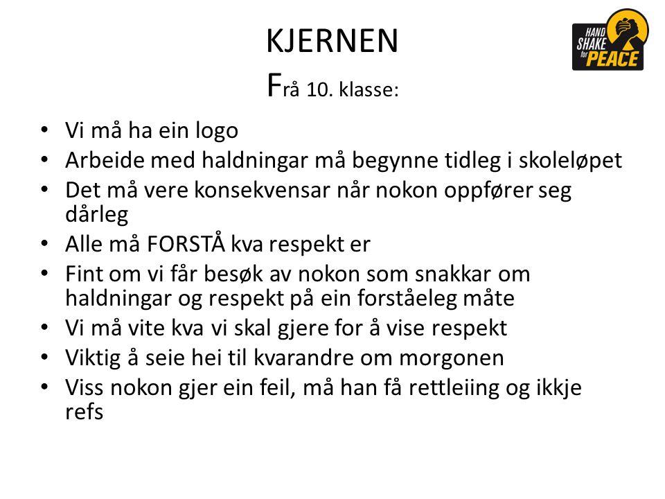 KJERNEN F rå 10.