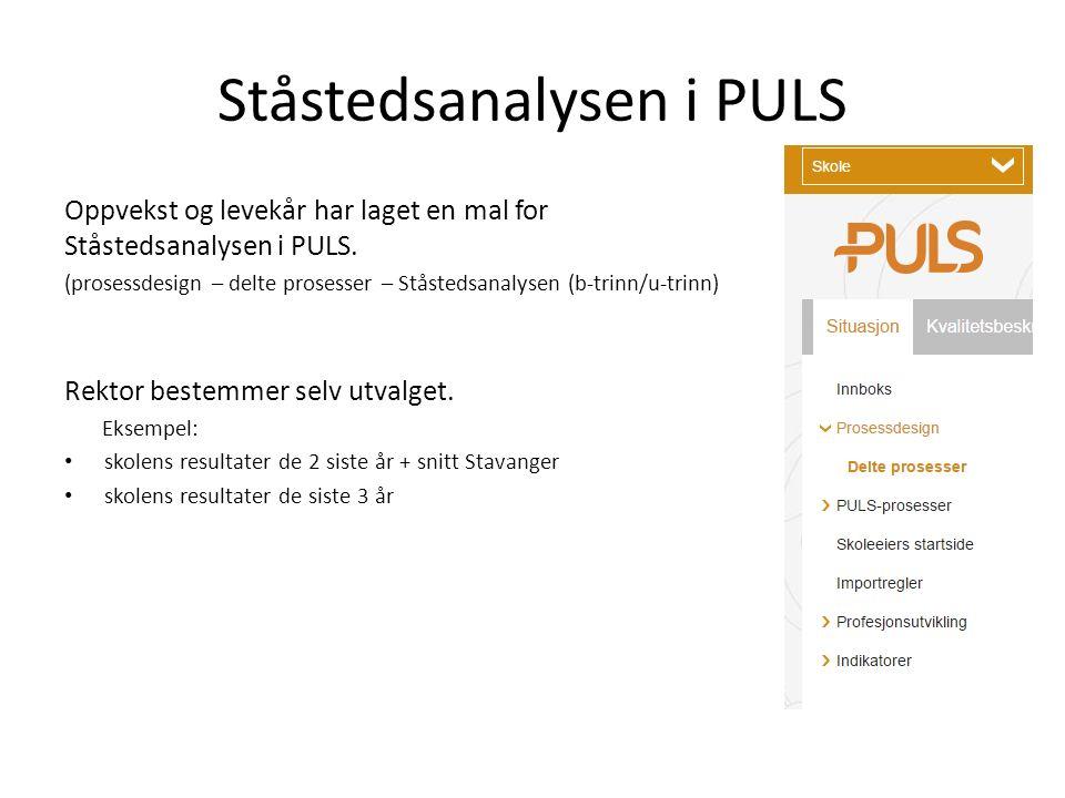 Ståstedsanalysen i PULS Oppvekst og levekår har laget en mal for Ståstedsanalysen i PULS.