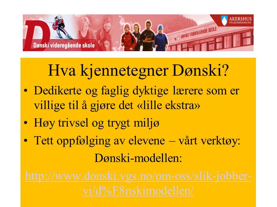 Hva kjennetegner Dønski.