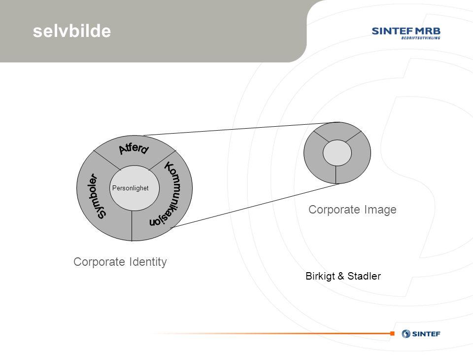 selvbilde Birkigt & Stadler Corporate Image Corporate Identity Personlighet