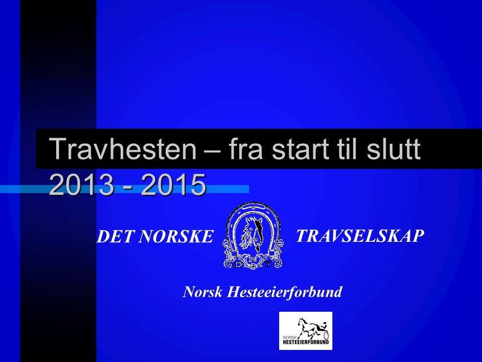 DET NORSKE TRAVSELSKAP Travhesten – fra start til slutt 2013 - 2015 Norsk Hesteeierforbund