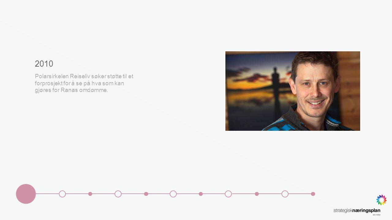 2010 Polarsirkelen Reiseliv søker støtte til et forprosjekt for å se på hva som kan gjøres for Ranas omdømme.