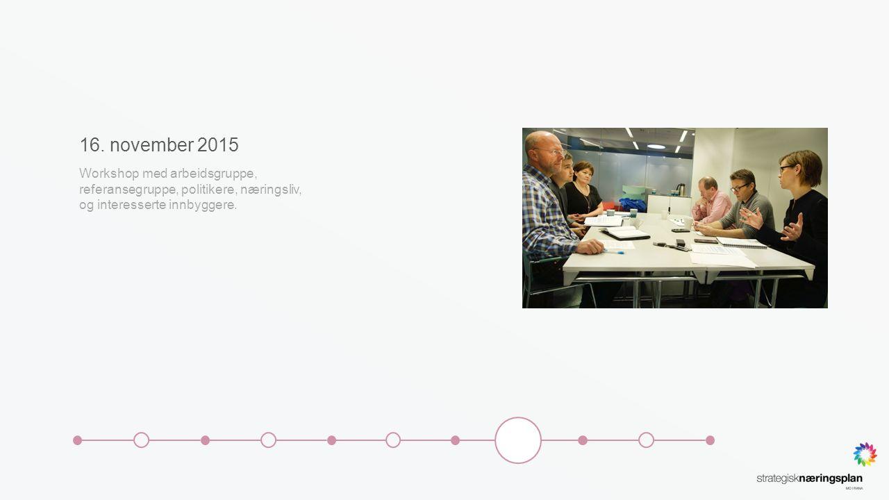 Desember 2015 Kommunestyret orienteres om arbeidet så langt.