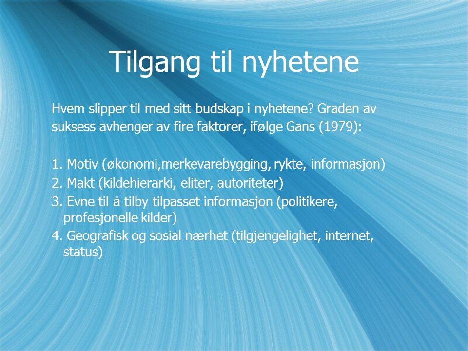 Kvinnelige kilder Norge: Utvikling fra 9% i 1979 til 14% i 1989.