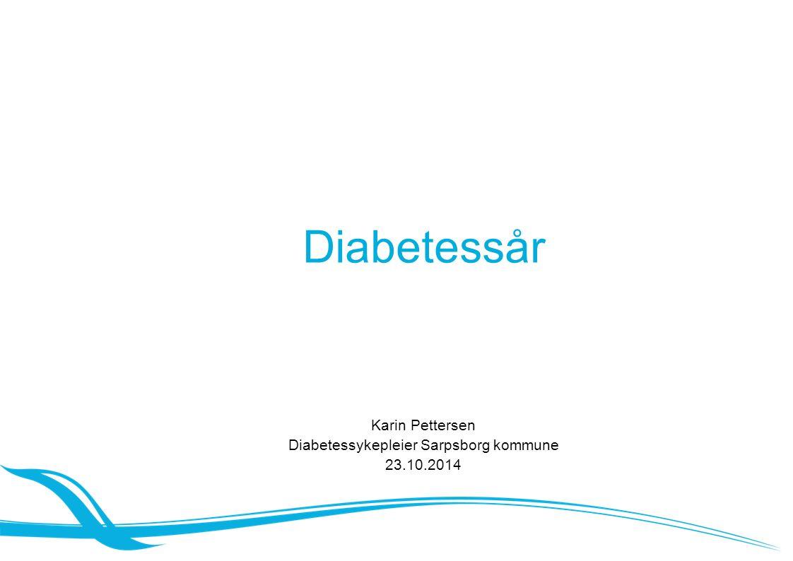Diabetessår Karin Pettersen Diabetessykepleier Sarpsborg kommune 23.10.2014