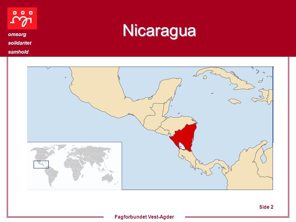 Side 2 omsorg solidaritet samhold Fagforbundet Vest-Agder Nicaragua