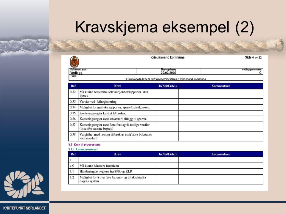 Kravskjema eksempel (2)