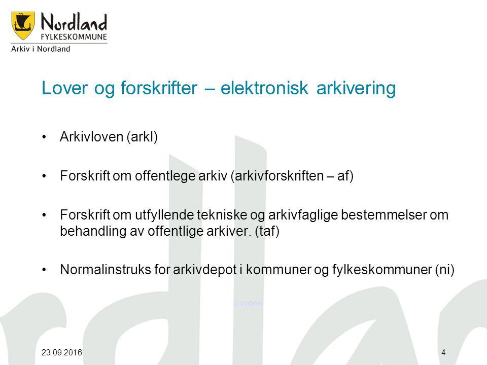 Arkivforskriften – elektronisk .