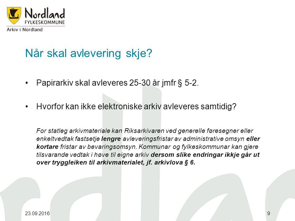 Hva kan Arkiv i Nordland tilby.