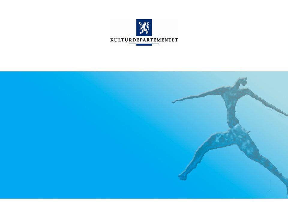 Kulturdepartementet Norsk mal: Sluttside Tips bildekreditering: Alle bilder brukt i presentasjonen må krediteres for eksempel slik: Slide nr.