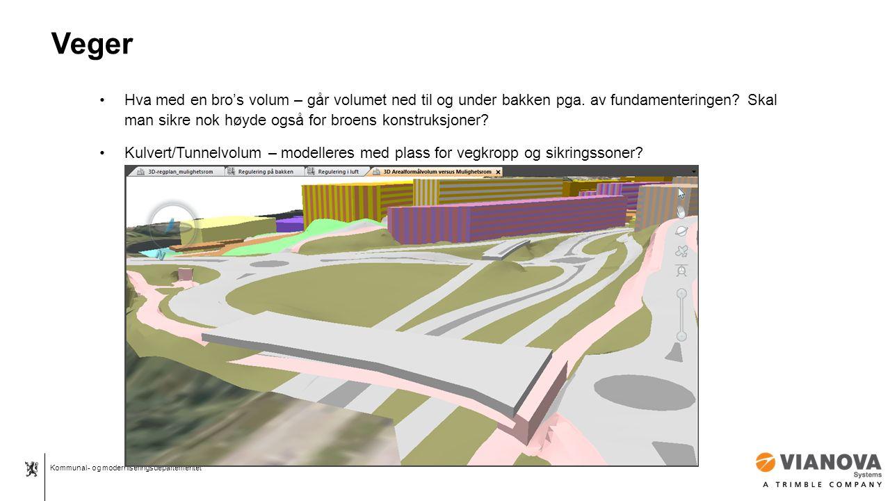 Kommunal- og moderniseringsdepartementet Veger Hva med en bro's volum – går volumet ned til og under bakken pga.