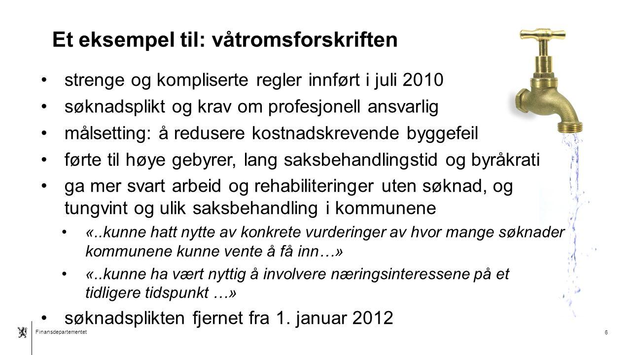 Finansdepartementet Norsk mal: Tekst med kulepunkter - 1 vertikalt bilde Ny utredningsinstruks 1.