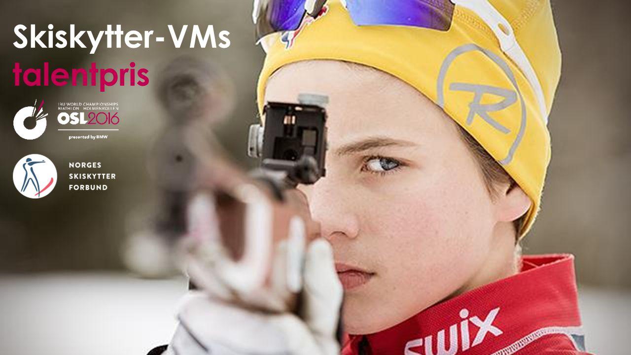 Hva «Skiskytter-VMs talentpris» er en talentpris der NSSF og Oslo2016 skal løfte frem og hylle de 32 største skiskyttertalentene i Norge.