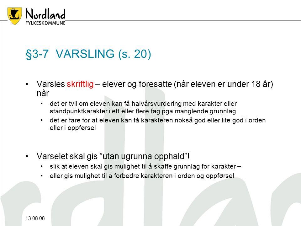 §3-7 VARSLING (s.