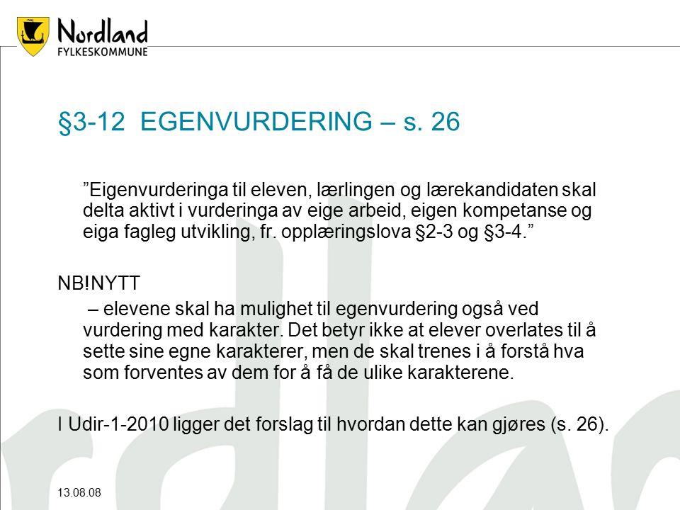 §3-12 EGENVURDERING – s.