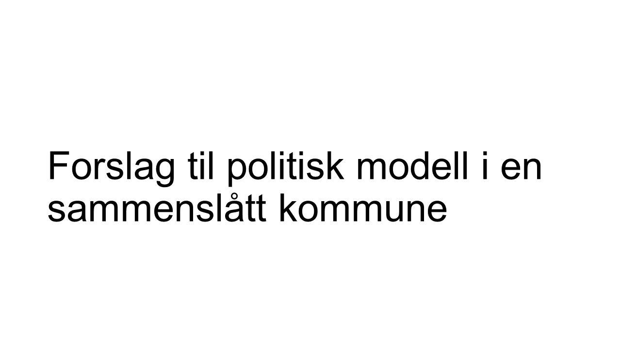 Forslag til politisk modell i en sammenslått kommune