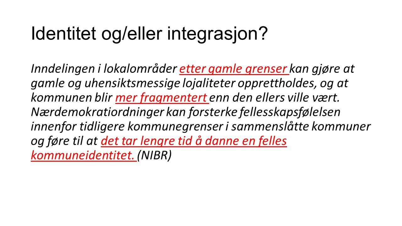 Identitet og/eller integrasjon.