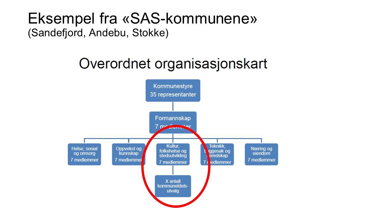 Eksempel fra «SAS-kommunene» (Sandefjord, Andebu, Stokke)
