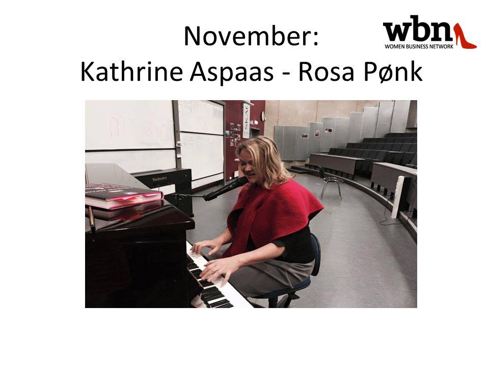 November: Kathrine Aspaas - Rosa Pønk