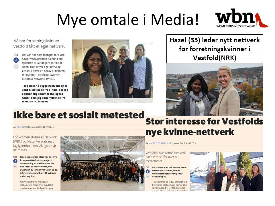 Hazel (35) leder nytt nettverk for forretningskvinner i Vestfold(NRK) Mye omtale i Media!