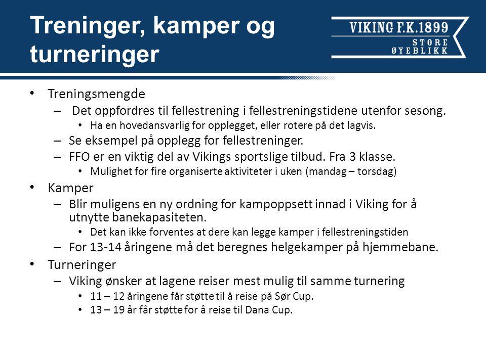 Kompetanseheving Viking ønsker at flest mulig spillere får best mulig kvalitet i sitt møte med klubben.